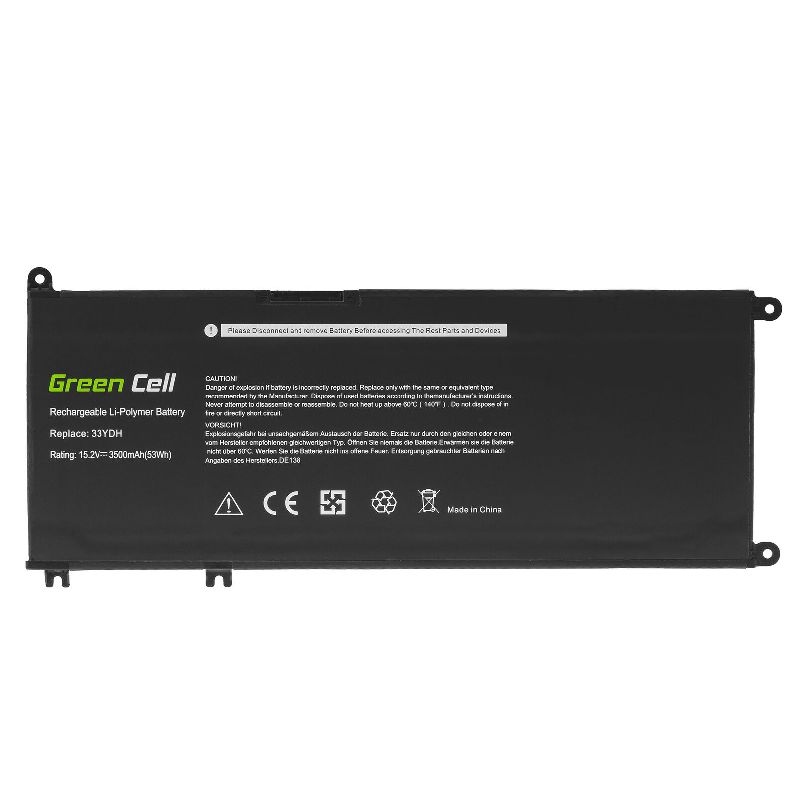 Accu voor Dell G3 3579,G3 3779,G5 5587,G7 7588 99NF2 33YDH W7NKD(compatible)