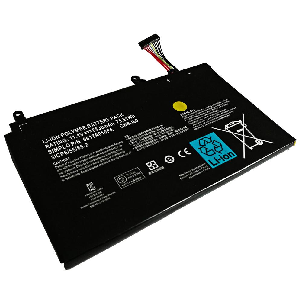 Accu voor GNS-I60 961TA010FA GIGABYTE P35 P35W V3 P37 P37W CF1 P35K(compatible)