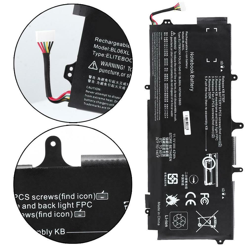 Accu voor BL06XL HSTNN-DB5D 722297-001 722236-2C1 HP EliteBook Folio 1040 G1 G2(compatible)