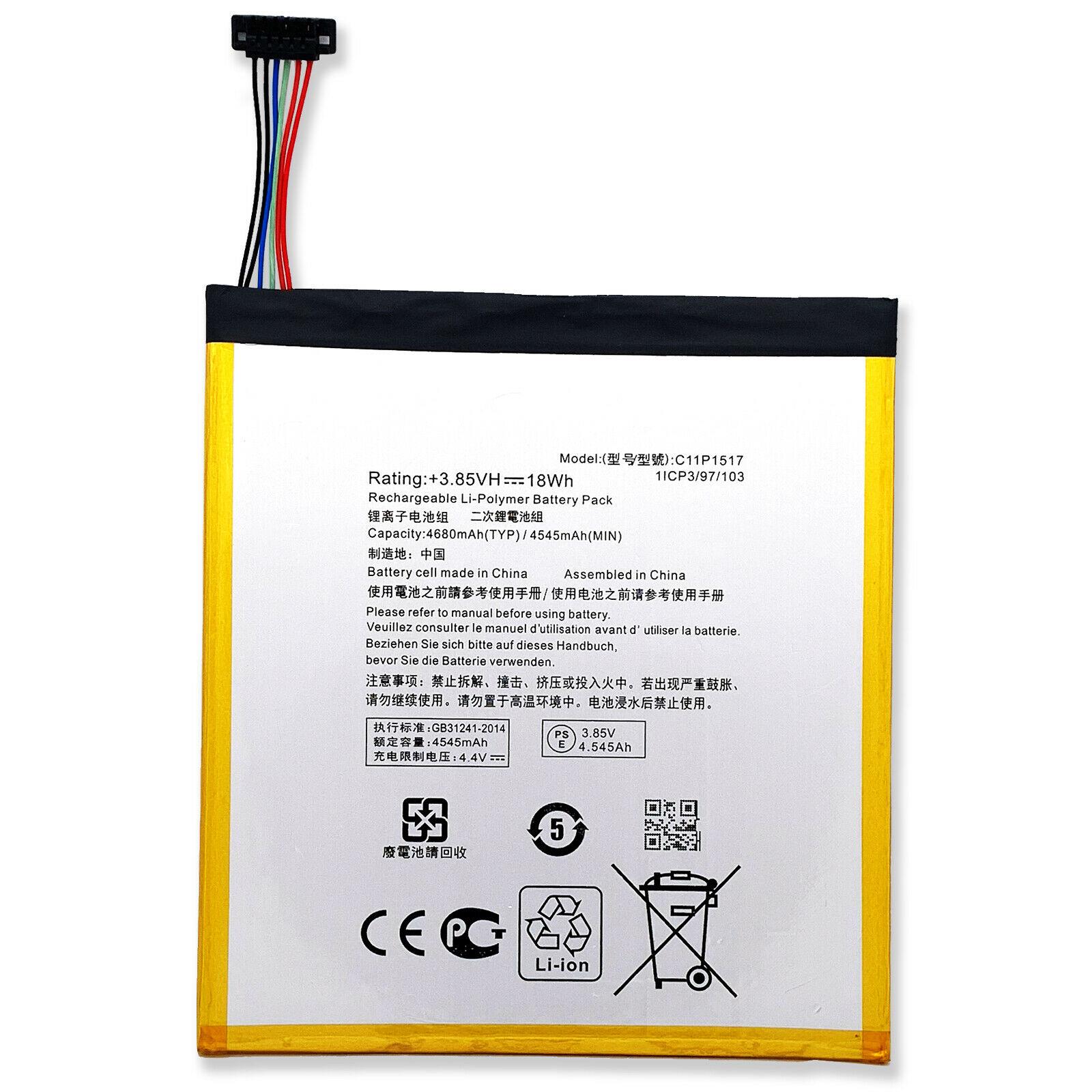 Accu Asus ZenPad C 7.0 P01Z ZenPad 10 Z300CNL Z300M 0B200-01580200 C11P1517(compatible)